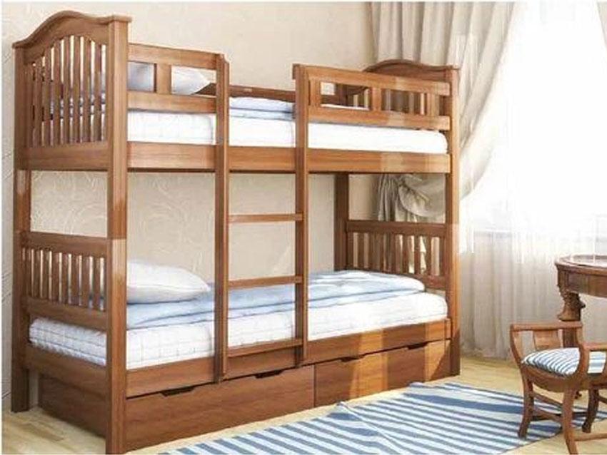 Двухъярусные и односпальные кровати