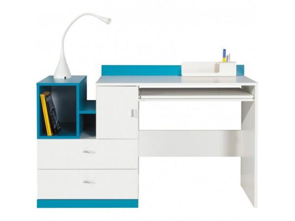 Моби 002*стол письменный biu/130 130*55*83  нимфеа альба/морская волна